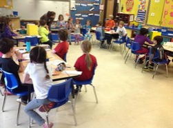 Ms. Domalick allowed the Kindergarteners accompanying me to choose ready tables!