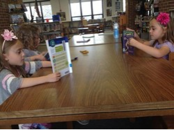 My kinders accompanying me wanted to stop in the LMC and take a silent reading break. How awesome is that?!?