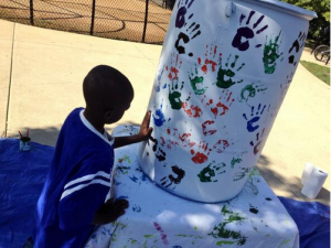 rain barrel art appr