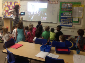 Skyping with a class in Spain